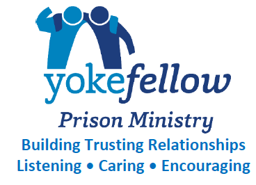 Yokefellow Prison Ministry Logo: Building Trusting Relationships, Listening, Caring, Encouraging